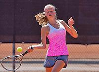 Netherlands, Rotterdam August 05, 2015, Tennis,  National Junior Championships, NJK, TV Victoria,   Gabriëlle Dekkers<br /> Photo: Tennisimages/Henk Koster
