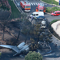 Plane crash at Castellet airport - France