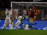 during the Champions League Group  soccer match between AS Roma - Real Madrid  at the Stadio Olimpico in Rome Italy 27 November 2018