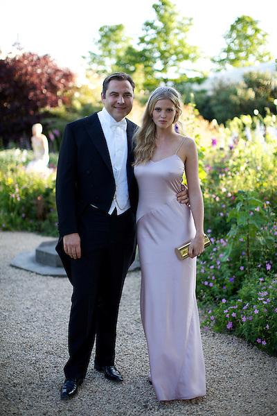 David Walliams and Lara Stone at Elton John's White Tie and Tiara Ball