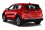 Car pictures of rear three quarter view of a 2020 KIA Sportage LX 5 Door SUV angular rear