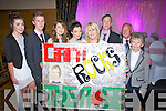 ROCKY: Great support for Ciara Roger (Austin Stacks, Connolly Park, Tralee) at the Kerry Rose selection 2013 at Ballyroe Heights Hotel, Tralee on Friday night, l-r: Karina Quilter, Jack McCarthy, Laura Rogers, Sarah Rogers, Helen Rogers, Jimmy Rogers, regie Rogers and Helen Rogers (snr).