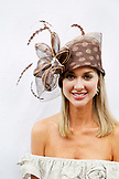 USA, Tennessee, Nashville, Iroquois Steeplechase, portrait of a spectator on race day near the society tent