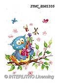 Marcello, CUTE ANIMALS, LUSTIGE TIERE, ANIMALITOS DIVERTIDOS, paintings+++++,ITMCEDH1335,#AC#, EVERYDAY ,owls