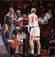 STANFORD, CA - November 29, 2017: Jerod Haase, Michael Humphrey at Maples Pavilion. The Stanford Cardinal defeated Montana 70-54.