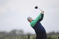 Caolan Rafferty from Ireland on the 8th tee during Round 3 Foursomes of the Men's Home Internationals 2018 at Conwy Golf Club, Conwy, Wales on Friday 14th September 2018.<br /> Picture: Thos Caffrey / Golffile<br /> <br /> All photo usage must carry mandatory copyright credit (&copy; Golffile | Thos Caffrey)