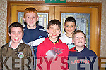 Killian O'Carroll, Kevin O'Leary, Maurice, Patrick O'Keeffe and Darragh Keane Brosna at the Kerry Community Games awards in the River Island Hotel, Castleisland on Friday night