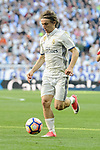Real Madrid's Luka Modric during La Liga match between Real Madrid and Atletico de Madrid at Santiago Bernabeu Stadium in Madrid, April 08, 2017. Spain.<br /> (ALTERPHOTOS/BorjaB.Hojas)