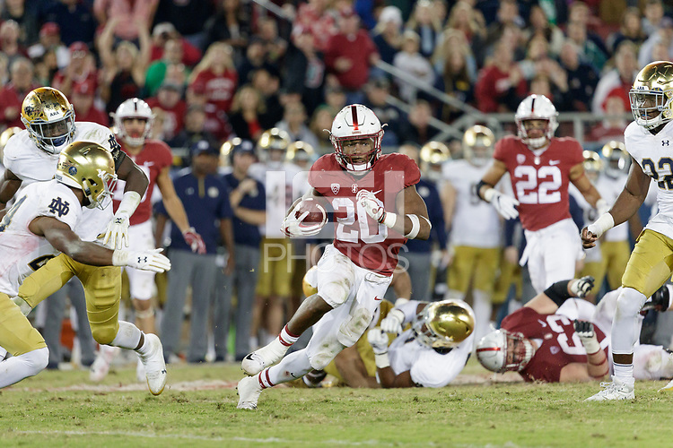 Stanford, CA - November 25, 2017:  Stanford Football defeats Notre Dame 38-20 at Stanford Stadium.