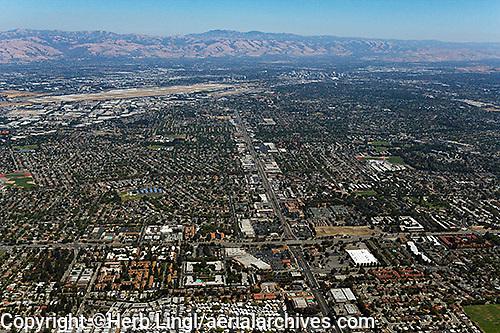 aerial photograph Santa Clara, Santa Clara county, Silicon Valley,  California