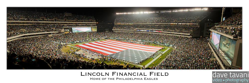 12x36 inch poster of Lincoln Financial Field.