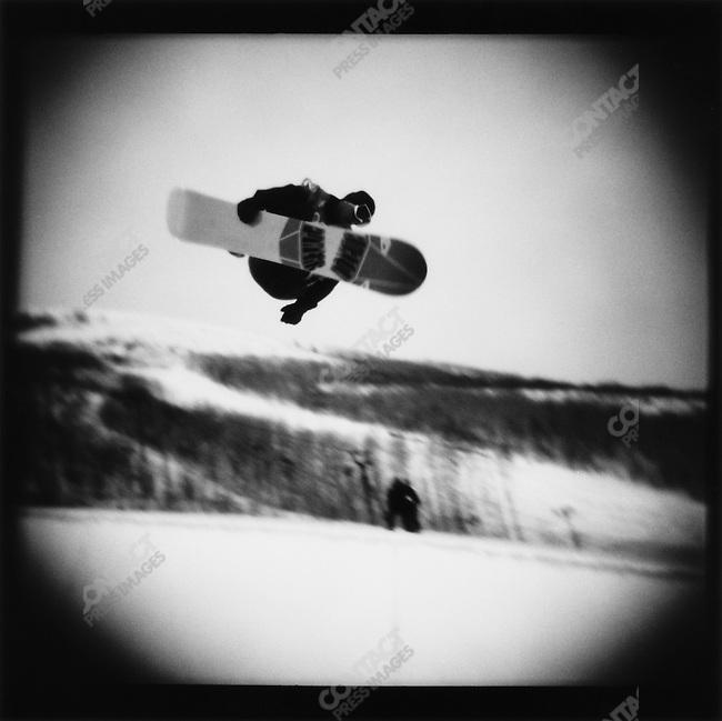 Snowboarding, Winter Olympics, Park City Utah, USA.  February 2002