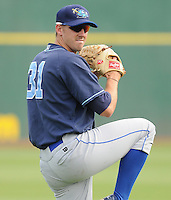 July 7, 2008: LHP Tony Bradley (31) of the Wilmington Blue Rocks, Class A affiliate of the Kansas City Royals, in a game against the Myrtle Beach Pelicans at BB&T Coastal Field in Myrtle Beach, S.C. Photo by:  Tom Priddy/Four Seam Image