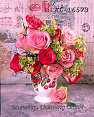 Interlitho-Alberto, FLOWERS, BLUMEN, FLORES, photos+++++,pink roses,vase,KL16573,#f#, EVERYDAY ,rose,roses