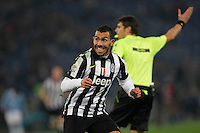 Carlos Tevez celebrates after scoring   in action during the Italian Serie A soccer match between   SS Lazio and FC Juventus   at Olimpico  stadium in Rome , November 22, 2014