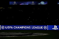 Champions League banner and logo <br /> Napoli 25-02-2020 Stadio San Paolo <br /> Football Champions League 2019/2020 - Round 16, 1st leg<br /> SSC Napoli - FC Barcelona<br /> Photo Antonietta Baldassarre / Insidefoto