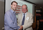 22/07/2015 GP Trainee Awards and Michael Lennard Reception 2015 hosted at The Holiday Inn, Filton, Bristol, by MDU. Dr Peter Torrance (Swindon) is awarded the Robin While Prize, presented by Robin While.