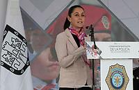 CDMX. 17 enero de 2019.-  La Jefa de Gobierno de la Ciudad de México, Claudia Sheinbaum Pardo asistió a la ceremonia de graduación de cuatro generaciones de cadetes de los alumnos de la Licenciatura en Tecnologías Aplicadas a la Seguridad Pública, que organizó la Secretaría de Seguridad Ciudadana, a cargo de Jesús Orta Matínez.