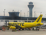 Transportation images; Airport, airport tower, budget airline, airplane images from Chicago's O'Hare Airport, 2017. (DePaul University/Jamie Moncrief)