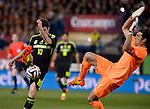 CESC vies with Buffon during the FIFA friendly football match Spain vs Italy on March 5, 2014 on the eve of their World Cup 2014 at the Vicente Calderon stadium in Madrid.  PHOTOCALL3000 / DP