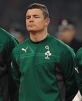 9th November 2013; Brian O'Driscoll, Ireland, before kick-off. Autumn International Series, Ireland v Samoa, Aviva Stadium, Dublin. Picture credit: Tommy Grealy/actionshots.ie.