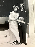 BNPS.co.uk (01202 558833)Pic:  MarkEzra/BNPS<br /> <br /> British Army Captain Peter Ezra married Gabriella in Venice in 1949.<br /> <br /> Brighton nonagenarian Gabriella Ezra(91) has finally been recognised for her wartime heroics...<br /> <br /> The extraordinary story of how a teenage girl saved an entire village from being executed by the Nazis has come to light after she finally received a gallantry award nearly 74 years later.<br /> <br /> Fearless Gabriella Ezra, 91, who lives in Brighton, Sussex, intervened to stop her father Luigi and 37 other inhabitants of a rural village in her native Italy from being massacred by a firing squad during the chaotic last days of WW2.<br /> <br /> She has now been awarded an Italian Star of Italy medal after her son Mark wrote to the Italian embassy to make them aware of her remarkable actions on the morning April 28, 1945.<br /> <br /> Gabriella, who was 17 years old at the time, chased after a German officer and pleaded with him to show mercy to the villagers of Capella di Scorze, near Venice, who had been rounded up and locked in a cowshed.<br /> <br /> The Germans were after retribution following an attack on their men by Italian partisans which had left several of them wounded.