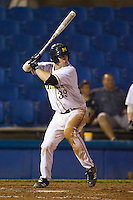 Michigan Wolverines first baseman Brett Winger #39 at bat during a game against the Pittsburgh Panthers at the Big Ten/Big East Challenge at Florida Auto Exchange Stadium on February 17, 2012 in Dunedin, Florida.  (Mike Janes/Four Seam Images)