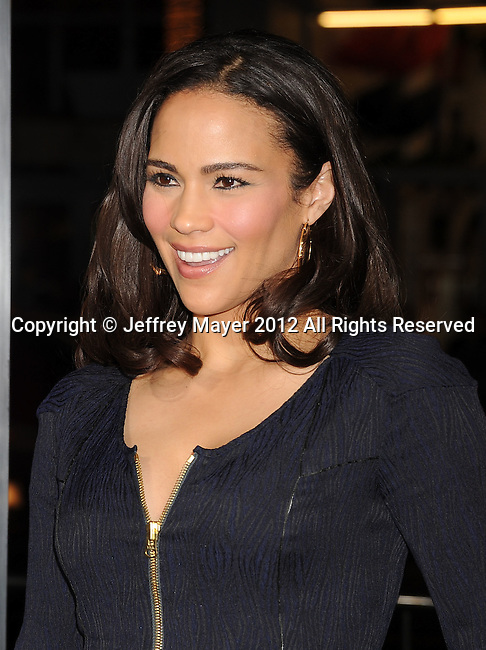 HOLLYWOOD, CA - JANUARY 09: Paula Patton attends the 'Joyful Noise' Los Angeles Premiere at Grauman's Chinese Theatre on January 9, 2012 in Hollywood, California.