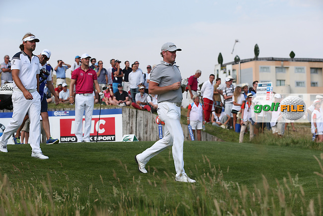 Jamie Donaldson (WAL) leads off from the 17th tee during Round Two of the 2015 Alstom Open de France, played at Le Golf National, Saint-Quentin-En-Yvelines, Paris, France. /03/07/2015/. Picture: Golffile | David Lloyd<br /> <br /> All photos usage must carry mandatory copyright credit (&copy; Golffile | David Lloyd)