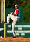 18 June 2010: Lowell Spinners starting pitcher Roman Mendez on the mound against the Vermont Lake Monsters at Centennial Field in Burlington, Vermont. The Lake Monsters defeated the Spinners 9-4 in the NY Penn League season home opener. Mandatory Credit: Ed Wolfstein Photo