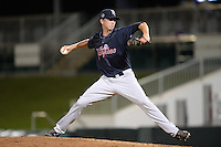 Tampa Yankees pitcher Conor Mullee (13) delivers a pitch during a game against the Fort Myers Miracle on April 15, 2015 at Hammond Stadium in Fort Myers, Florida.  Tampa defeated Fort Myers 3-1 in eleven innings.  (Mike Janes/Four Seam Images)