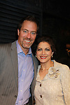 Guiding Light Robert Bogue & Saundra Santiago (OLTL) pose after the performance of Victoria E. Calderon's play Manipulation on June 24, 2011 at the Cherry Lane Theatre, New York City, New York. (Photo by Sue Coflin/Max Photos)