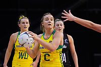 Liz Watson looks for support during the Constellation Cup Series international netball match between the New Zealand Silver Ferns and Samsung Australian Diamonds at TSB Bank Arena in Wellington, New Zealand on Thursday, 18 October 2018. Photo: Dave Lintott / lintottphoto.co.nz