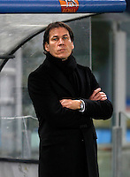 Calcio, Champions League, Gruppo E: Roma vs Manchester City. Roma, stadio Olimpico, 10 dicembre 2014.<br /> Roma's coach Rudi Garcia waits for the start of the Champions League Group E football match between Roma and Manchester City at Rome's Olympic stadium, 10 December 2014. Manchester City won 2-0.<br /> UPDATE IMAGES PRESS/Isabella Bonotto