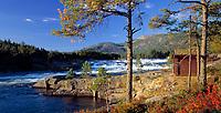 Norwegen, Aust Agder, bei Evje im Setesdal (Maerchental des Suedens) - Herbststimmung an der Otra | Norway, Aust Agder, near Evje at valley Setesdal - autumn at river Otra