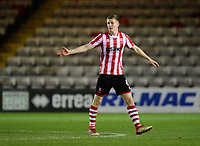 Lincoln City's Scott Wharton<br /> <br /> Photographer Chris Vaughan/CameraSport<br /> <br /> The EFL Checkatrade Trophy Northern Group H - Lincoln City v Wolverhampton Wanderers U21 - Tuesday 6th November 2018 - Sincil Bank - Lincoln<br />  <br /> World Copyright © 2018 CameraSport. All rights reserved. 43 Linden Ave. Countesthorpe. Leicester. England. LE8 5PG - Tel: +44 (0) 116 277 4147 - admin@camerasport.com - www.camerasport.com