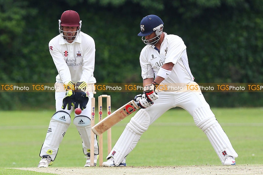 Freddie Butt of Upminster is bowled out - Upminster CC vs Brentwood CC - Essex Cricket League - 07/06/14 - MANDATORY CREDIT: Gavin Ellis/TGSPHOTO - Self billing applies where appropriate - 0845 094 6026 - contact@tgsphoto.co.uk - NO UNPAID USE