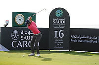 Renato Paratore (ITA) on the 16th during Round 3 of the Saudi International at the Royal Greens Golf and Country Club, King Abdullah Economic City, Saudi Arabia. 01/02/2020<br /> Picture: Golffile | Thos Caffrey<br /> <br /> <br /> All photo usage must carry mandatory copyright credit (© Golffile | Thos Caffrey)