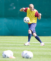 USA's Gregg Berhalter during practice in Hamburg, Germany, for the 2006 World Cup, June, 9, 2006.
