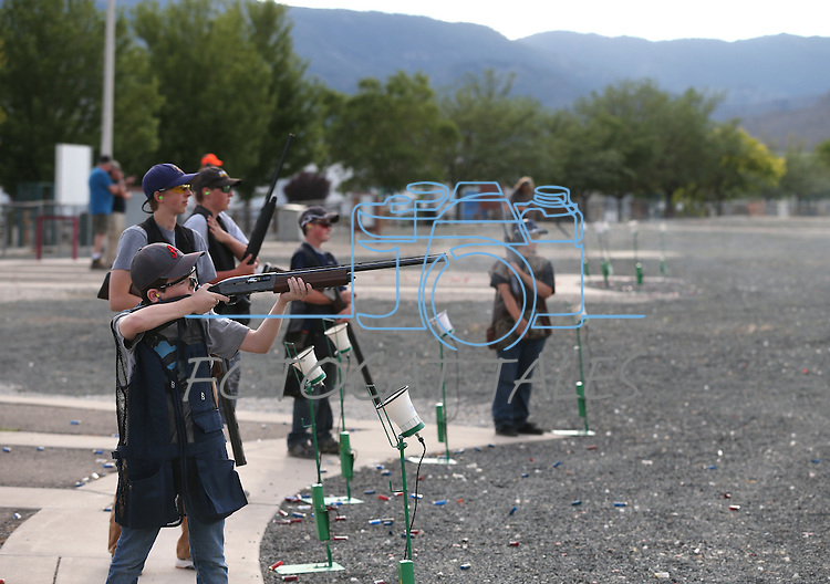 Teens practice at the Capital City Gun Club, in Carson City, Nev., on Friday, July 11, 2014.<br /> Photo by Cathleen Allison