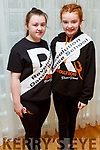 Ellie Flynn and Ciara Mahoney, members of the Tralee Musical Society at their 'Strictly Young Dancing' fundraiser launch in the Ballyroe Heights Hotel on Saturday which is being held on February 9th in Ballyroe Hotel.