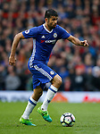Diego Costa of Chelsea during the English Premier League match at Old Trafford Stadium, Manchester. Picture date: April 16th 2017. Pic credit should read: Simon Bellis/Sportimage
