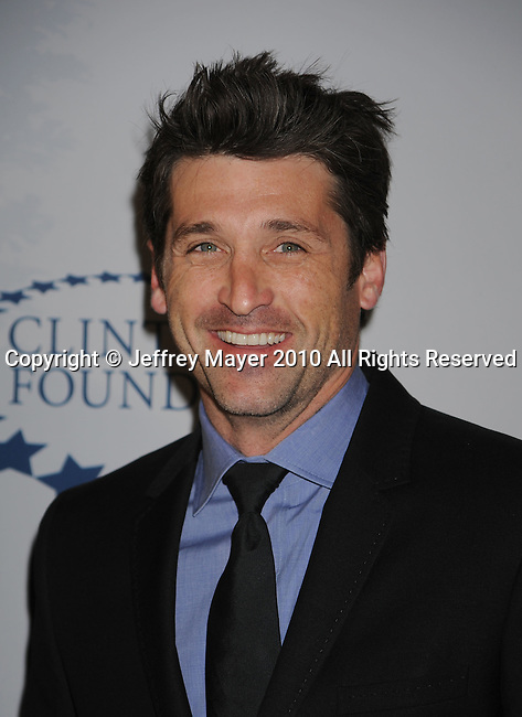 LOS ANGELES, CA. - March 18: Patrick Dempsey  arrives at the Ferrari 458 Italia Brings Funds for Haiti Relief event at Fleur de Lys on March 18, 2010 in Los Angeles, California.