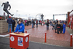Middlesbrough 1 Preston North End 1, 22/01/2011. Riverside Stadium, Championship. A programme seller waiting for customers outside Middlesbrough FC's Riverside Stadium on the day the club played host to Preston North End in an Npower Championship fixture. The match ended in a one-all draw watched by a crowd of 16,157. Middlesbrough relocated from their former home at Ayresome Park in 1995. Photo by Colin McPherson.