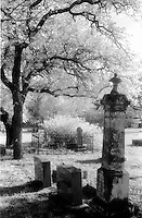 Pontotoc Cemetery photographed with Kodak infrared film.