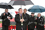 Mayor Paul Bell speaks at the Turning of the First Sod for the New Clubhouse for Drogheda Town Football Club at Marion Park...(Photo credit should read Jenny Matthews/NEWSFILE)...