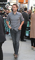 NEW YORK, NY - OCTOBER 17: Taylor Kitsch spotted leaving 'AOL Build'  in New York, New York on October 17, 2017.  Photo Credit: Rainmaker Photo/MediaPunch