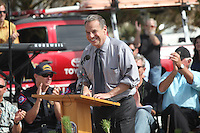 May 23, 2013: Ocean Beach, San Diego, California, USA:  Major Bob Filner speaks at the San Diego Lifeguard Bronze Memorial Dedication Ceremony.