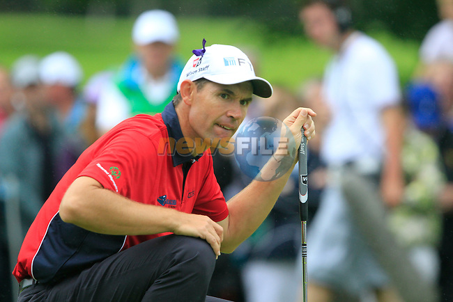 Padraig Harrington lines up his birdie putt on the 15th green during Day 2 of the 3 Irish Open at the Killarney Golf & Fishing Club, 30th July 2010..(Picture Eoin Clarke/www.golffile.ie)