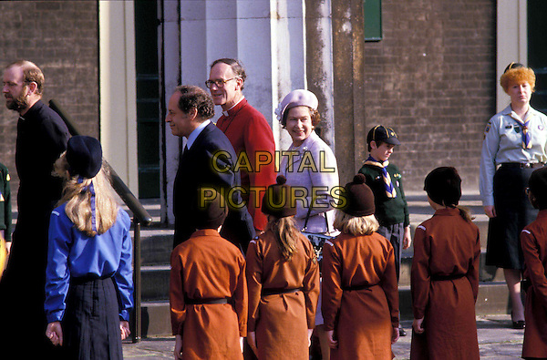 QUEEN ELIZABETH II.brownies, royalty.Ref: PL.www.capitalpictures.com.sales@capitalpictures.com.© Capital Pictures